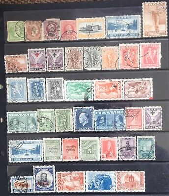 Greece issues 1860s-1940s MLH & used