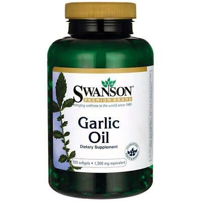 Swanson Garlic Oil 1,500mg, 500 Softgels * immune system From £15.60