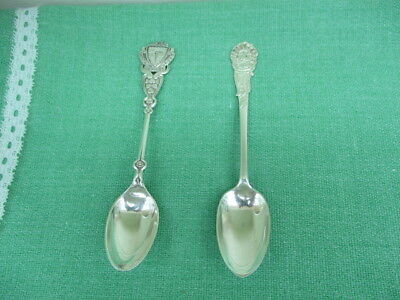 PAIR OF SOLID SILVER SPOONS 1896 & 1907 approx. 24grams