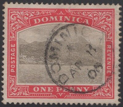 Dominica 1903 1d grey & red, used