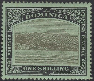 Dominica 1910 1/. black on green, mh