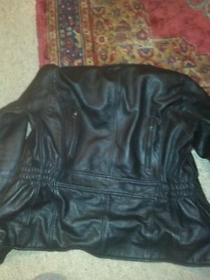 Ladies size 6 X-TREME racing wear leather motorcycle jacket. includes armour