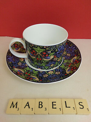 DUNOON ~STRAWBERRY THIEF WILLIAM MORRIS~  china cup & saucer