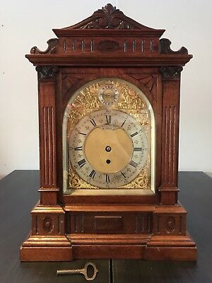 ⭐️ Large English Antique Fusee Bracket Clock  Craved Case 'Atterbury London'