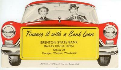 early 1950s Brenton State Bank ad blotter - Dallas Center Iowa