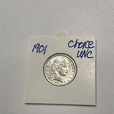 1901 Barber Quarter Very Nice Choice UNC**free shipping!