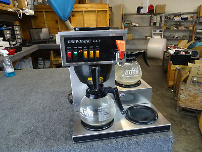 Brewmatic LA3 Commercial Coffee Maker 3 Pot Warmer Pourover w/ Hot Water Tap