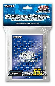 NEW Limited YuGiOh OCG Duelist Card Sleeve Protector BLUE 55pcs KONAMI JAPAN