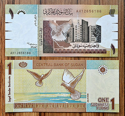 S U D A N1 Pounds 2006 P-64 UNC BANKNOTE CURRENCY  AFRICA MONEY > Dove of peace