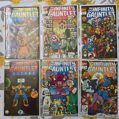 THE INFINITY GAUNTLET #1 - 6 1991 Starlin plus Thanos Rising #1 - 5 (Variant)