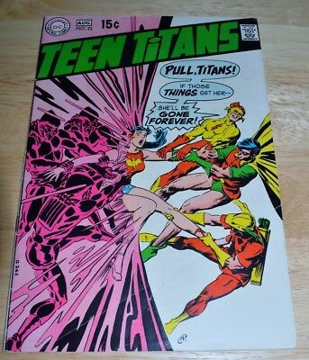 """Silver Age DC - Teen Titans Vol 1 #22 - 8/69 """"Halfway to Holocaust"""" FN+"""