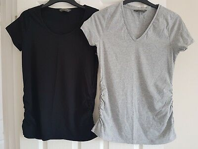 Blooming Marvellous Maternity T Shirt Top Bundle x2 size M Grey and Black