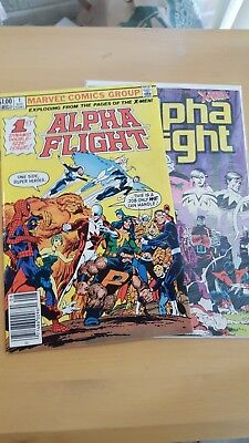 Alpha Flight #1 (Aug 1983, Marvel)and #33 firt appearances