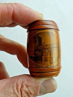 Mauchline Ware Thimble Holder Stranraer Scotland Old Antique Vintage Sewing Item