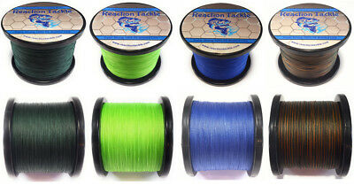 Reaction Tackle Fishing Line / Braided Fishing Line - Many Colors and Sizes