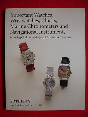 SOTHEBY'S February 1996 IMPORTANT WATCHES, WRISTWATCHES, CLOCKS, MARINE CHRONOME