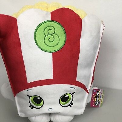 Shopkins Jumbo Stuffed Poppycorn Plush Poppy Corn Popcorn Soft Pillow 16u201d  NEW