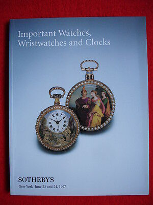 SOTHEBY'S June 1997 IMPORTANT WATCHES, WRISTWATCHES AND CLOCKS, NEW YORK Auktion