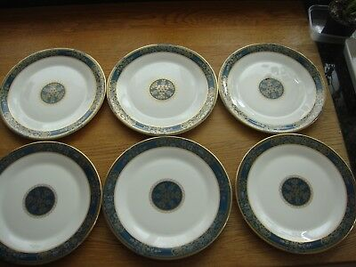 """ROYAL DOULTON CARLYLE H5018  6 x 10 5/8"""" dinner plates 1st Qty"""