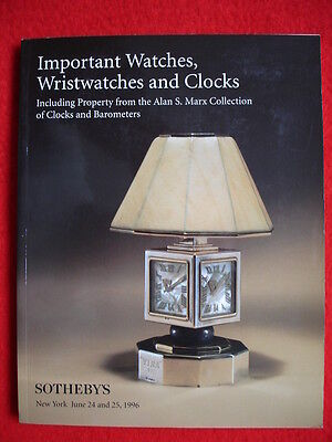 SOTHEBY'S June 1996 IMPORTANT WATCHES, WRISTWATCHES AND CLOCKS, NEW YORK Auktion