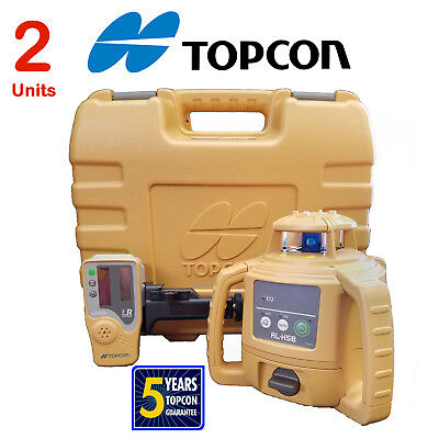 Two (2) Topcon RL-H5B DB Rotary Level Packages Shipped in a Single Box