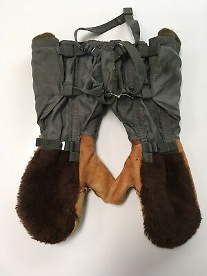 World War 2 Airforce Bomber Artic Leather & Fur Monkey Mitts Type N-48 Size Med