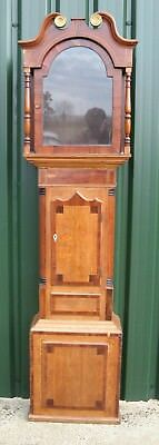 "A Good Old Grandfather Clock Case - Oak & Mahogany - Circa 1820- for 13"" Dial."