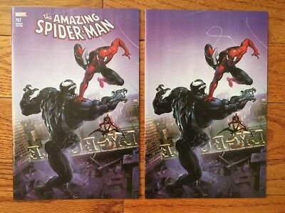 Amazing Spider-Man #797 - Connecting Color & Virgin Variant Set By Clayton Crain
