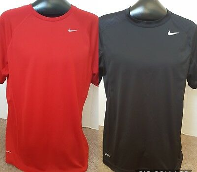 Mens Lot of 2 Nike dri-fit running fitness top, size M, rad and balck