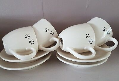 Boots coffee set. Paws print