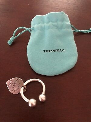 b4eed6cbc4c Authentic Tiffany & Co Please Return To Sterling Silver 925 Heart Tag Key  Ring