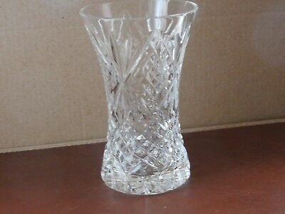 """Tyrone Crystal Footed  4"""" Ballymoney Vase - Stamped"""