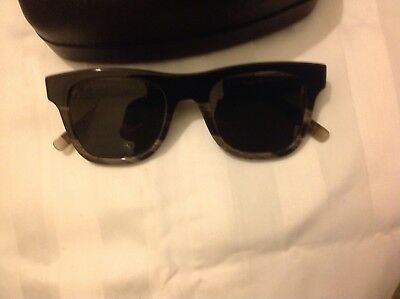 Salvatore  Ferragamo Men's sunglasses,black horn,rectangular,Made in Italy,$325.