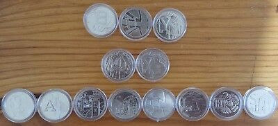 Coin Capsules for A to Z 10p collection 25mm Capsule - Amount 15 30 50 80 or 100