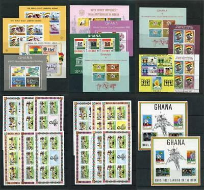 Ghana Miniature Sheet mix MNH