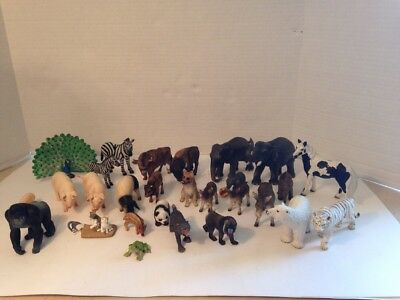 This Is For A Large Mixed Lot Of 28 Schleich Animals. Some Adults And Babies