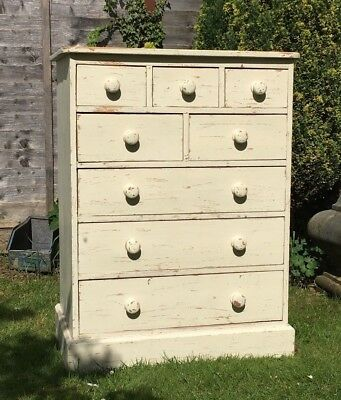 Antique Pine Bank Of Drawers - Apothecary Chest Of Drawers, Vintage Pine Chest