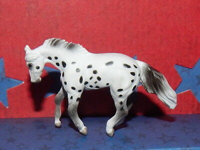 Breyer Mini Whinnie BLACK LEOPARD LOPING STOCK STALLION of Mini Whinnies AppySet