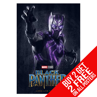 Black Panther Poster Marvel Avengers Print A4 A3 Size - Buy 2 Get Any 2 Free