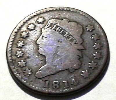 1810 Large Cent Classic Head Cent Penny No Reserve