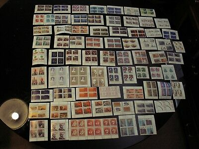 Canada - 73 Diff. Mnh-Vf Plate Blocks From Mostly The 70's Incl. Better $35 Fv