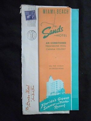 1950's The Sands Hotel Travel Brochure & Rate Sheet - Miami Beach