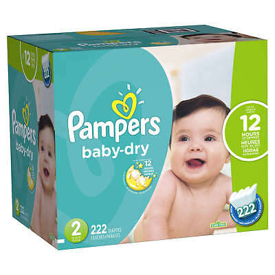 Pampers Baby-Dry Diapers Size 2 222 Count