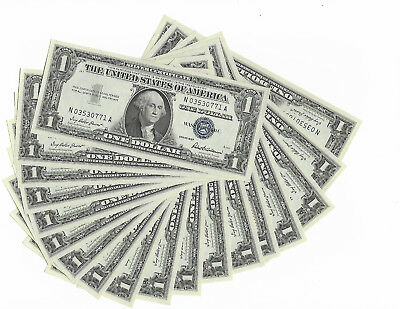 LOT OF 18) 1957 $1 Silver Certificate Uncirculated GEM UNC CONSECUTIVE NOTES!