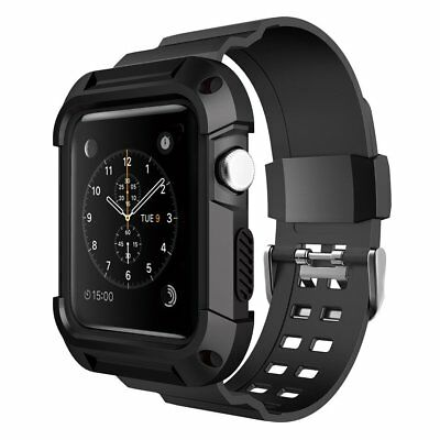 Apple Watch 42mm Band Case Rugged Protective Durable Strap Cover Series 3/2/1