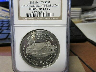 1883 HK-135 Headquarters At Newburgh Dollar NGC MS 63 PL WM R-5