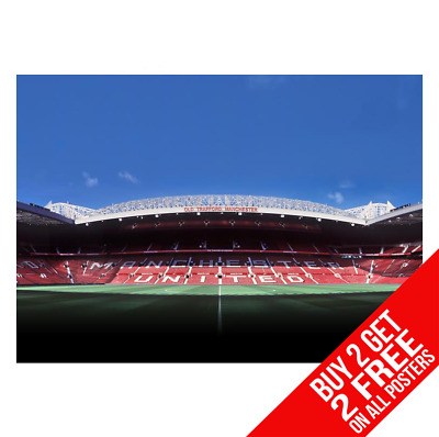 Manchester United Old Trafford Poster Print A4 A3 Size - Buy 2 Get Any 2 Free