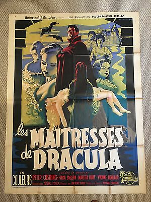 Brides of Dracula – French Grande Poster - Peter Cushing and Yvonne Monlaur