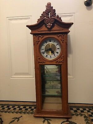 Beautiful Wall Clock With Glass Shelves