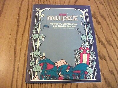 ATARI MILLIPEDE Arcade Game Owners Operation and Service Manual